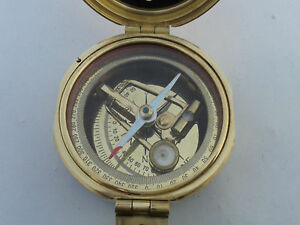 Antique Compass Surveying Brass Brunton Compass Geological Gift Transit Compass
