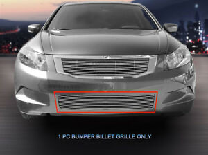 Fits 2008 2010 Honda Accord Sedan Billet Grille Grill Bumper