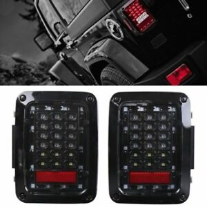 Tail Lights Led Tail Rear Light Fit For Firebug Jeep Wrangler Smoke Tinte Lens