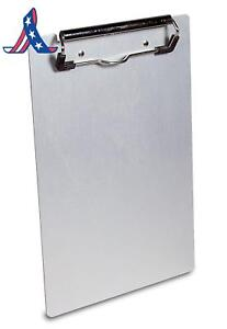 Saunders Recycled Aluminum Clipboard With Low Profile Clip Memo Size 5 75 X 9