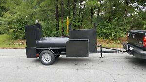 Double Sink Mount Bbq 48 Grill Smoker Trailer Catering Mobile Food Cart Truck