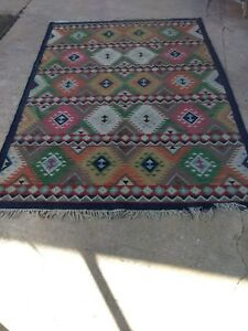 Vintage Antique Persian Rug Large Size 75 X 105 Wool Geometric