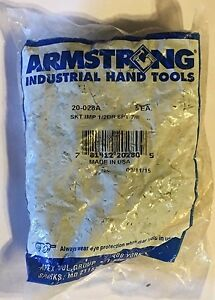 Armstrong 20 028a 1 2 Drive 6pt 7 8 Impact Sockets set Of 5