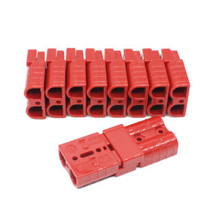 10pcs Battery Quick Connect Disconnect Plug Red 50a 6awg Winch Connector 5 Pair