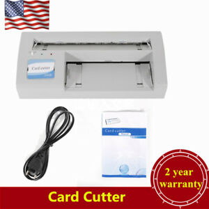 300b Automatic Business Name Card Slitter Cutter Name Card Paper Cutting Machine