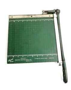 Vintage Collectible Paper Cutter By Photo Materials Co chicago 16 Lll 1930 50s
