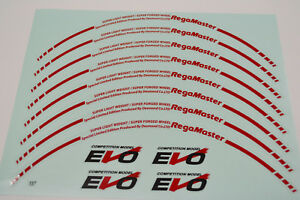 Evo Regamaster Curve Straight Decal Sticker Er001