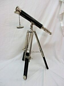 Vintage Maritime Collectible Spyglass Telescope With Tripod Cool Look