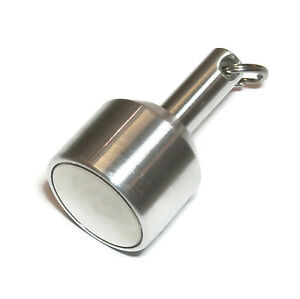 Strongest Test Magnet 54lbs 24kg N52 Rare Earth Neo Metal Silver Gold Check Km06