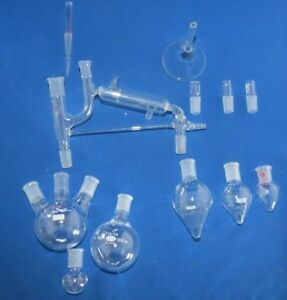47 Piece Simple Distillation Kit 14 20 Joints Name Brand Glass