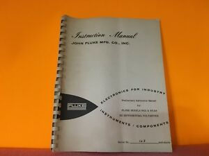 Fluke Model 891a 891ar Dc Differential Voltmeter Instruction Manual