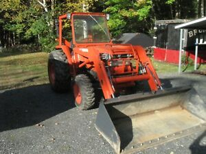 Kubota L4200 Gst Tractor With Loader Cab Qa Bucket Glide Shift 3 Rear Remotes