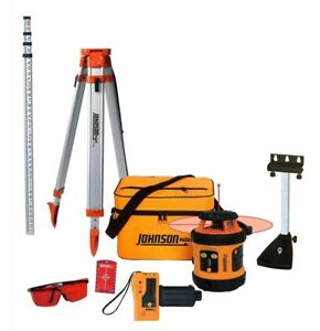 Johnson Level Tool Self Leveling Laser System W t Accessories 99 006k Brand New