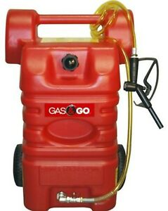15 Gal Gas Caddy Portable Atv Fuel Tank Station Storage Transfer Shutoff Valve
