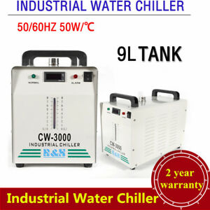 110v Industrial Water Chiller Cw 3000 For Engraver 60w 80w Co2 Laser Glass Tube