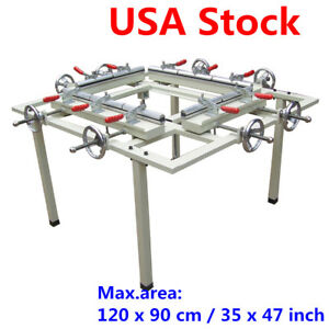 High Precise 35 X47 Manual Screen Stretching Machine Screen Printing Stretcher