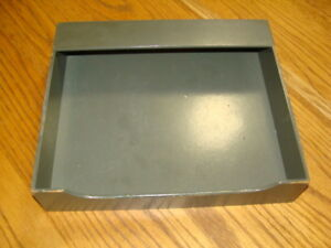 Vintage Wood Paper Tray 11 5 X 10