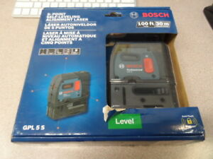 Bosch Gpl 5s 5 point Self leveling Alignment Laser New