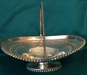 Victorian British Silver Plated Oval Bride S Basket Centerpiece C 1890 3