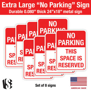 8 Pack Metal No Parking Sign Blank 18 X 24 Sign With Pre drilled Holes