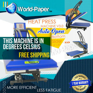 16x20 Magnetic Auto Open Heat Press Machine Business Sublimation Transfer 1800w