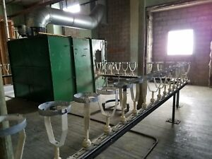 Automatic Spray Painting Conveyor System Continuous Spraying Drying