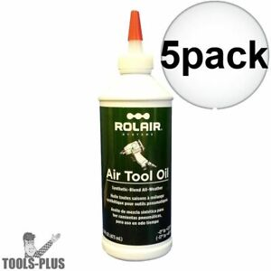 Rolair Oiltool16 16 Oz Synthetic All weather Air Tool Oil 5x New