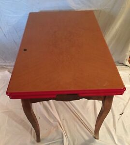 Vintage Antique Porcelain Enamel Kitchen Metal Table