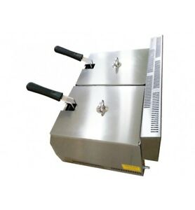 5 5 Double Fat Fryer With Basket Lpg Propane Gas Deep Fryer Commercial Fryer