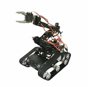 6 Dof Wifi Arduino Smart Robot Tank Chassis With Arm Clawer 7 Servos