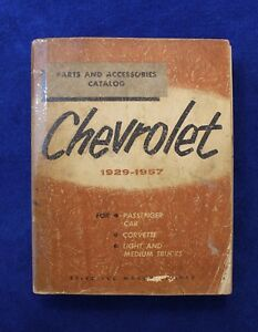 Vintage 1929 1957 Chevrolet Parts And Accessories Catalog Book Pickup Truck
