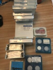 14 Sealed Boxes 10 Open Filters Whatman Millipore Nuclepore Free Shipping