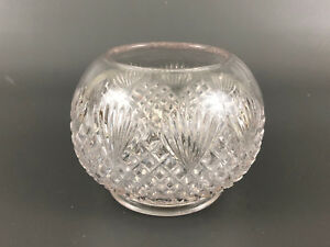 Indiana Tumbler Goblet Co Clear Pressed Glass Rose Bowl Overall Lattice 1890s