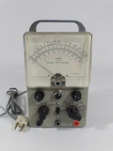 Vintage Heathkit Vtvm Vacuum Tube Voltmeter Model V 6 Works