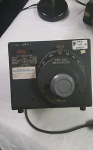 General Radio Unit Oscillator 1209 b Vintage Lab Unit 250 920 Megacycles