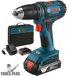 Bosch Ddb181 02 18 volt Lithium ion 1 2 Compact Tough Drill drive Kit New