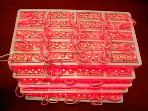 New 100pcs b d is jal002r 12v Strand Red 4 Led 1 75 Modules 2 5 Between Led s