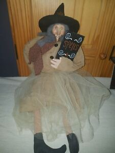 Grungy Folk Art Primitive Witch Doll