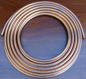 25 Ft New Heavy Duty Copper Plumbing Hvac Tubing 3 8od 375 Type K Bowman Usa
