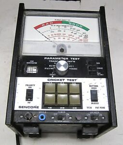 Sencore Model Tf30 Cricket Parameter Transistor Tester Good Condition