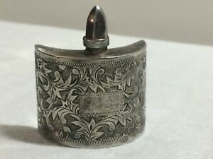 Antique Sterling Silver 950 Perfume Bottle