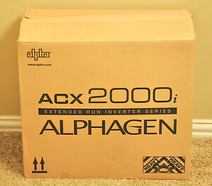 New Alphagen Alpha Gen Acx2000i Extended Run Inverter Series Acx 2000i Generator