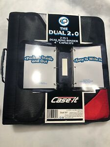 Case It 2 In 1 Dual Ring Binder Blue 4 Inch Capacity The Dual 2 0 New