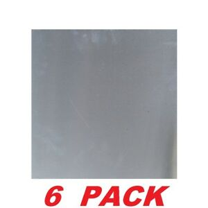 Plain Aluminum Sheet 12 X 12 Metal Silver Building Project Roof Repair 6 Pack