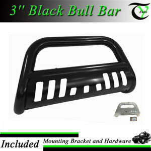 For 2005 2015 Toyota Tacoma New Black 3 Round Push Bumper Grille Guard Bull Bar