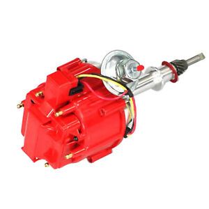 1 X New Igniton Distributor 6522r Red For Inline 6 Cylinder 230 250 292 Chevy