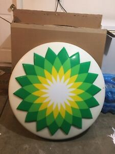 Bp Gas Station Button Sign