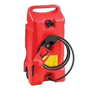 Portable Fuel Gas Tank Jug Container Caddy Transfer Hand Pump Hose 14 Gallon Red