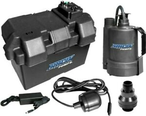 Battery Backup Emergency Sump Pump Kit 12v Basement Flood Protection Alarm Set