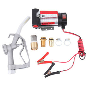 Electric Diesel Oil Transfer Pump 12v 11gpm Fuel Kerosene Extractor Pump Set Kit